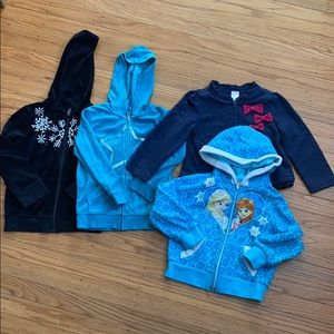 4T jackets and hoodie Frozen/Disney jackets bundle